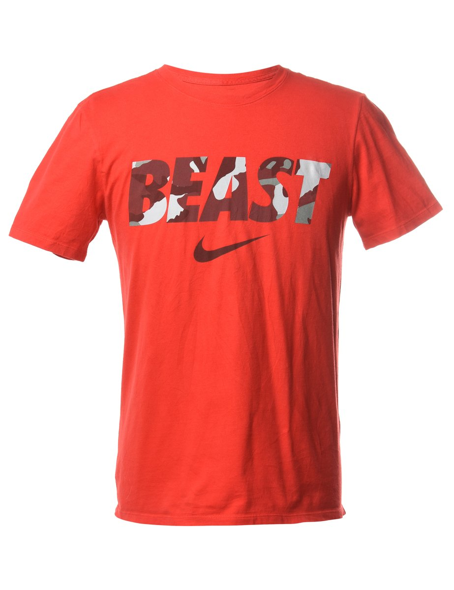 1990s Beast Nike Printed T-shirt - M