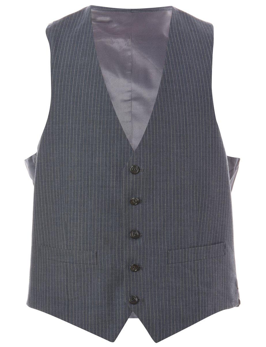 1990s Pinstriped Waistcoat - M