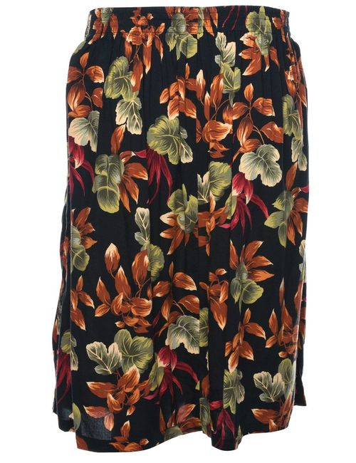 Beyond Retro 2000s Leafy Print Skirt - M