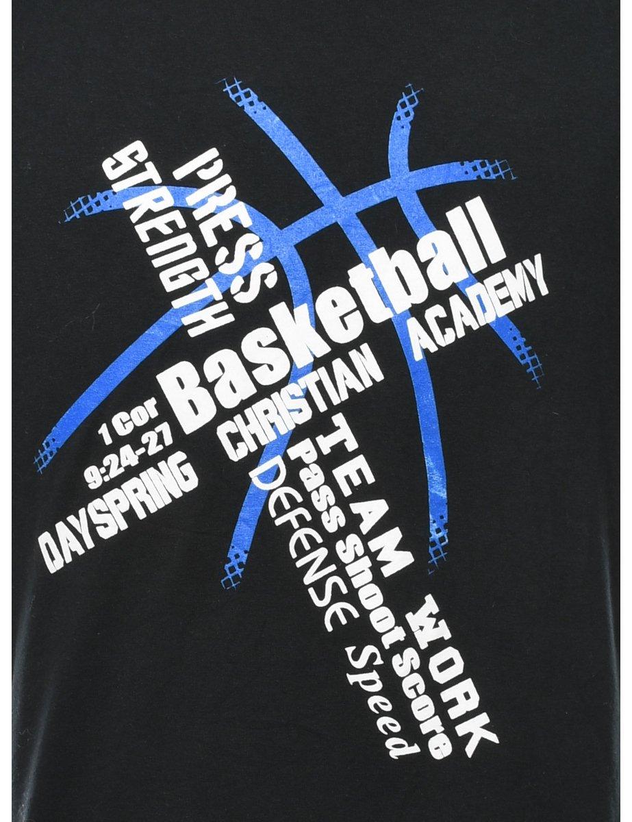 Beyond Retro 2000s Basketball Dayspring Christian Academy Printed T-shirt - L