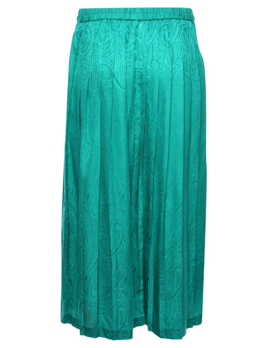 Beyond Retro 100% Silk Pleated Skirt - M