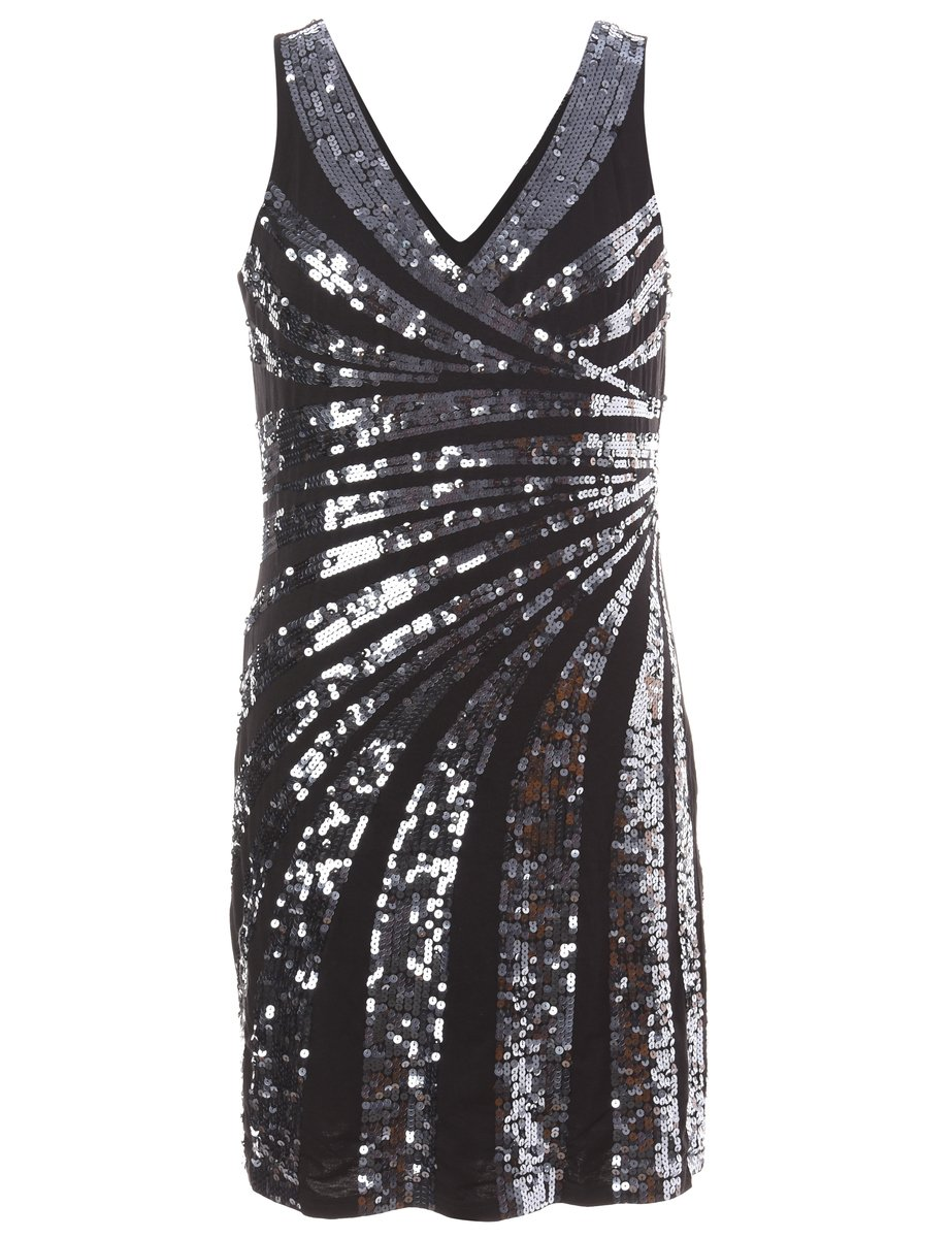1990s  Sequined Party Dress - M