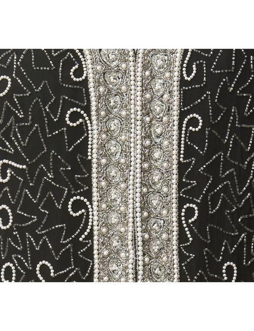 Beyond Retro 1980s Silk Beaded Evening Jacket - L