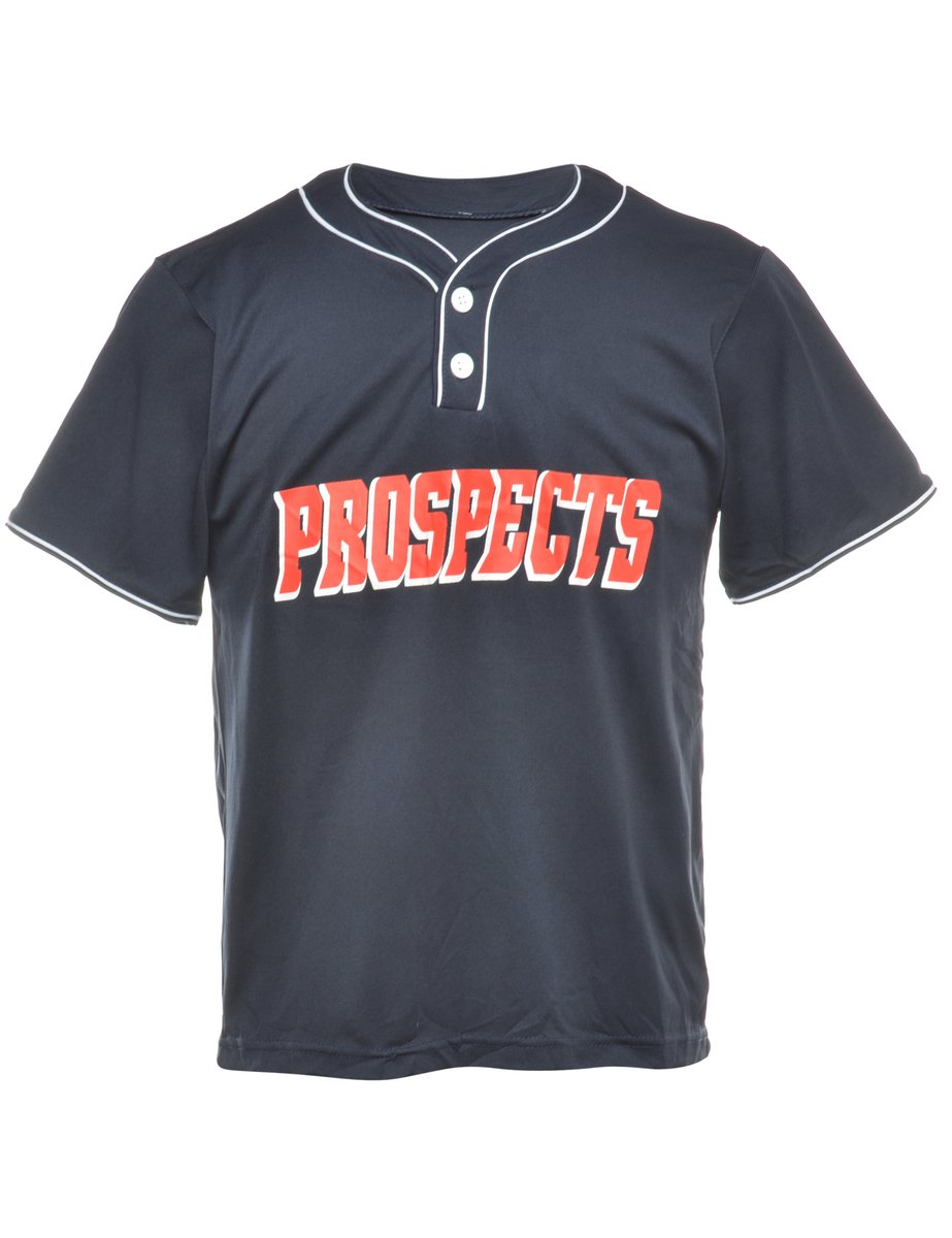 1990s Button Front Prospects Sports T-shirt - L