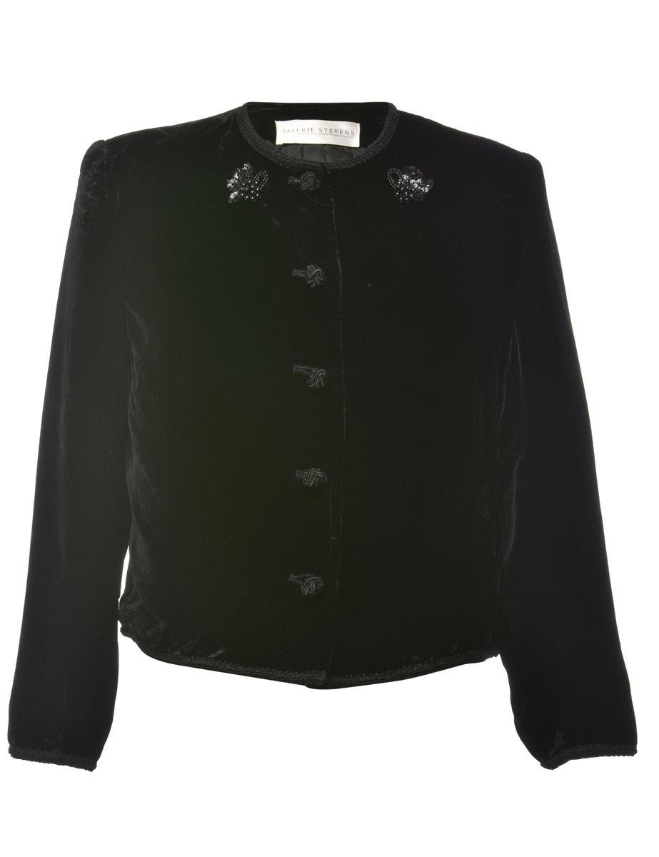 1990s Velvet Evening Jacket - M