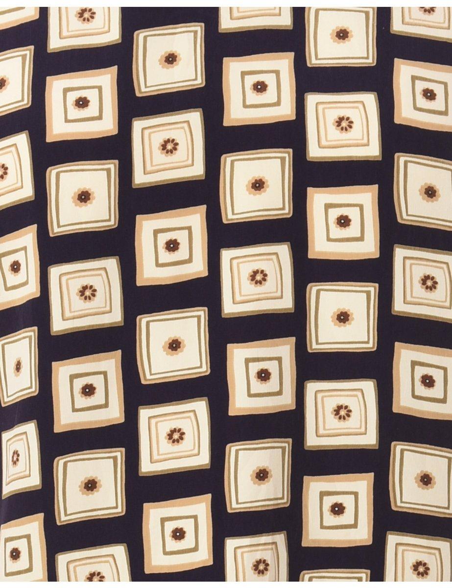 1990s Geometric Printed Top - S