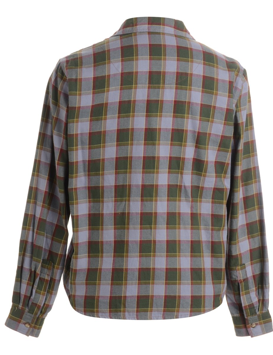1990s Grey Checked Shirt - M