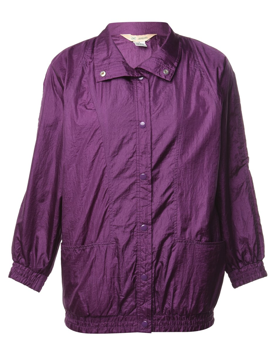 1990s Purple Nylon Jacket - S