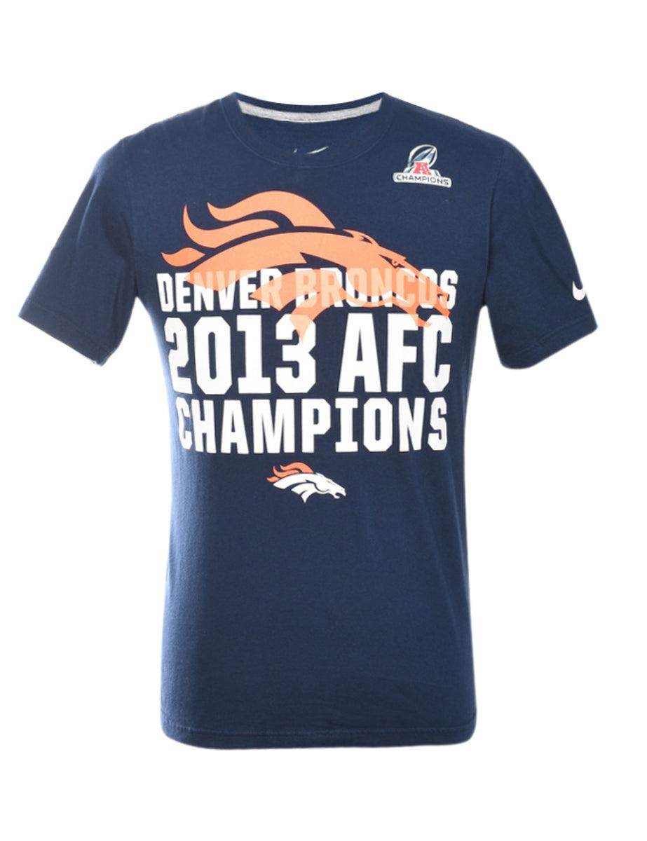 2000s Nike Denver Broncos Printed T-shirt - S