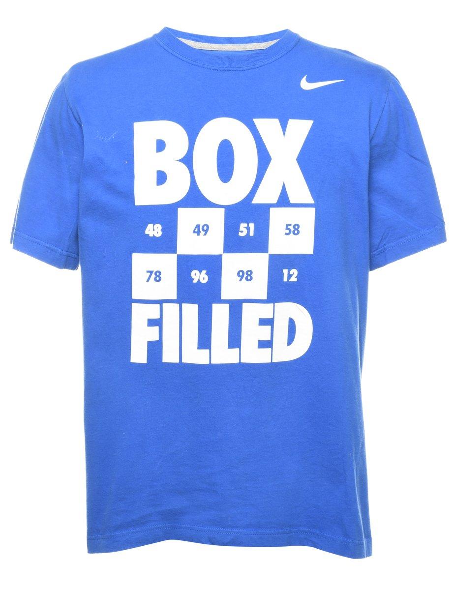 2000s Nike Box Filed Printed T-shirt - L