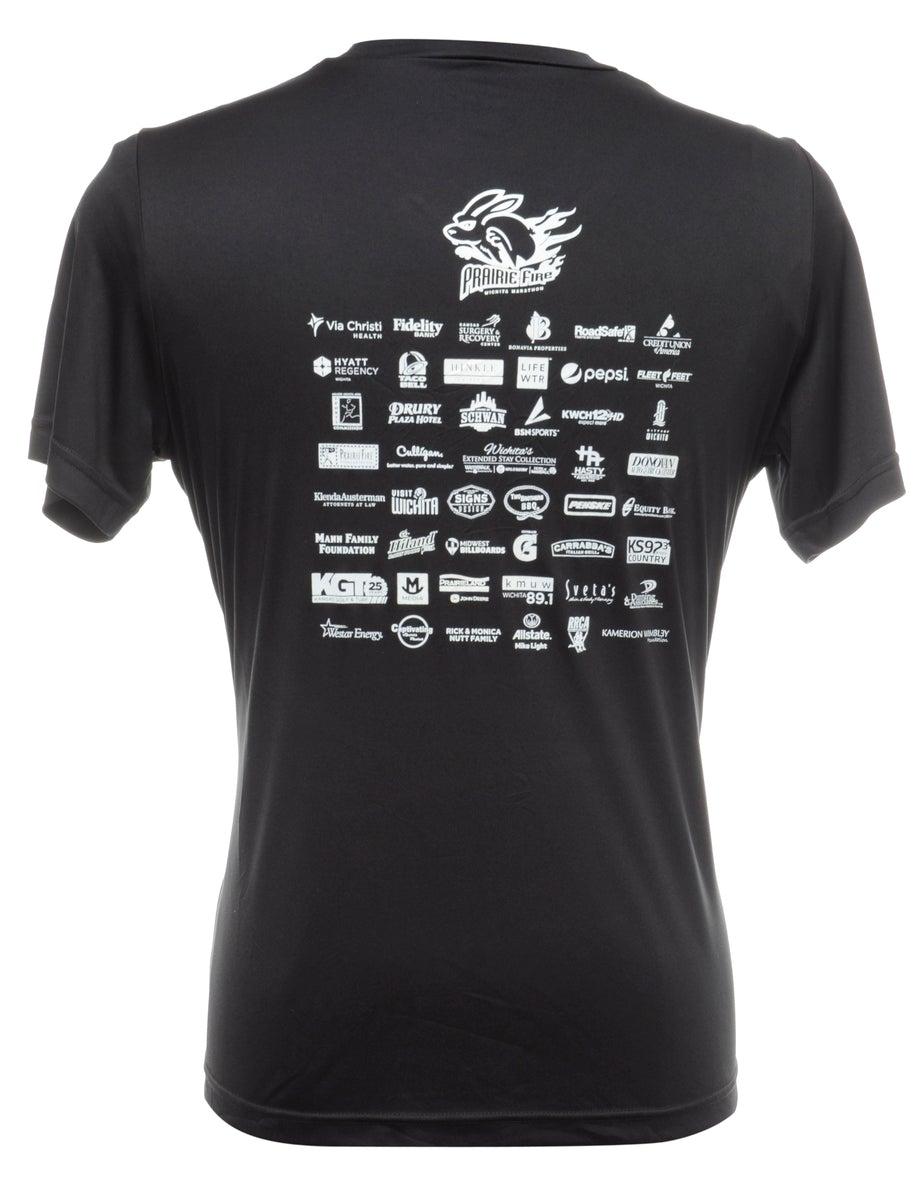 Beyond Retro 2000s Black Printed T-shirt - M
