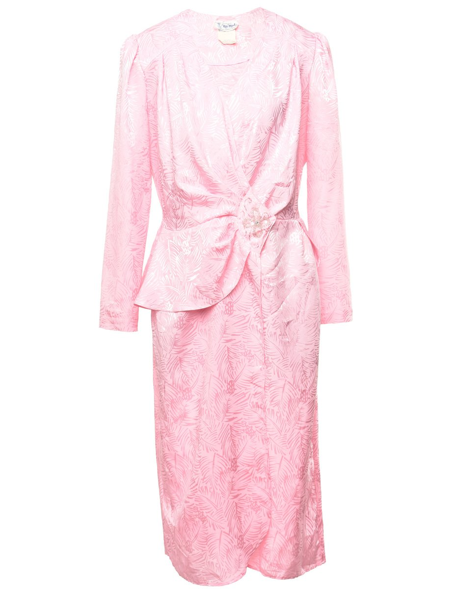 1980's Nu-Mode Jacquard  Dress - M