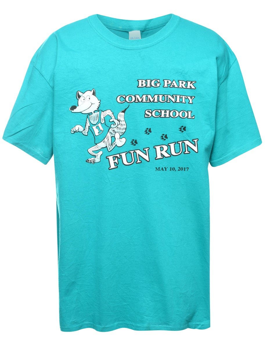 Beyond Retro 2000s FUN RUN Printed T-shirt - L