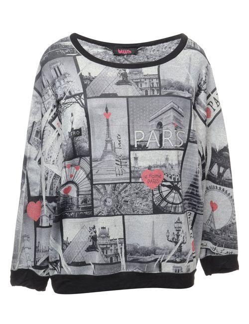 Beyond Retro 2000s Paris Printed Sweatshirt - L