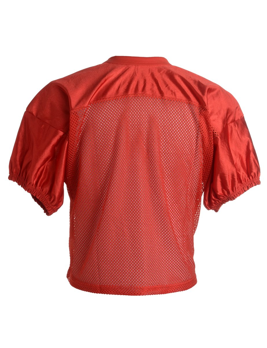 1990s Cropped Sports T-shirt - XL