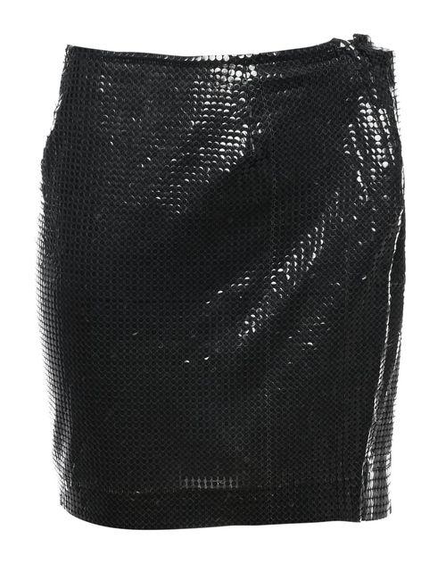 2000s Black Sequined Mini Skirt - L