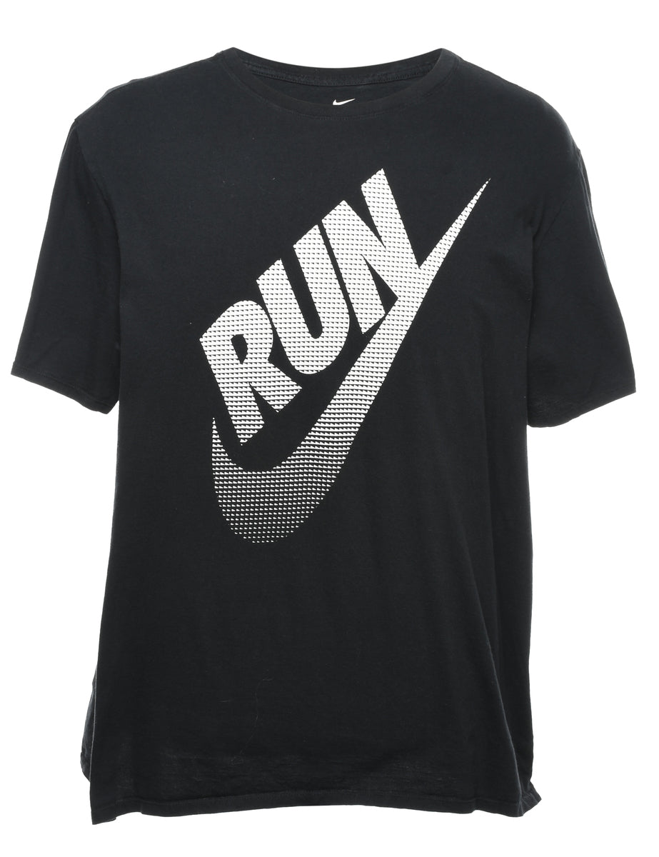 2000s Nike Run Printed T-shirt - XXL