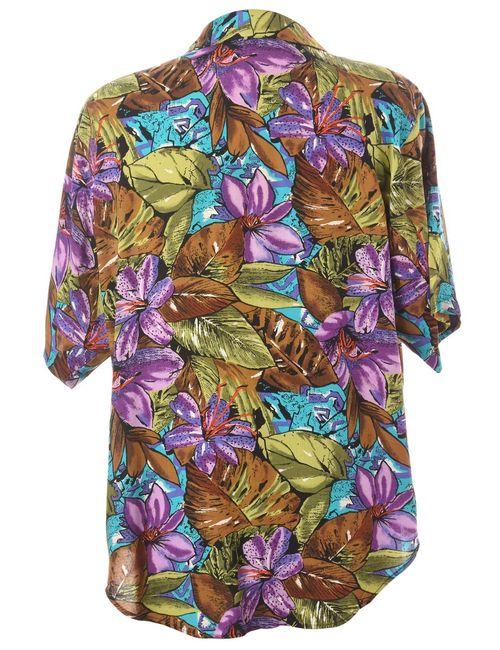Beyond Retro 1980s Floral Blouse - L