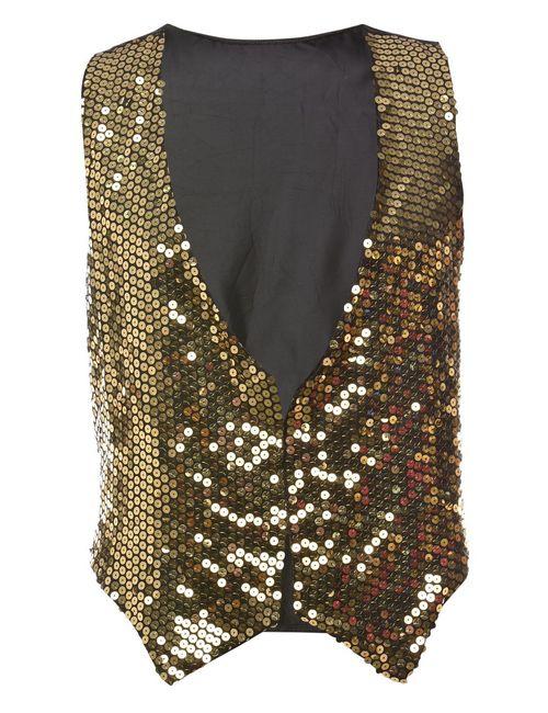 1990s Sequined Waistcoat - L