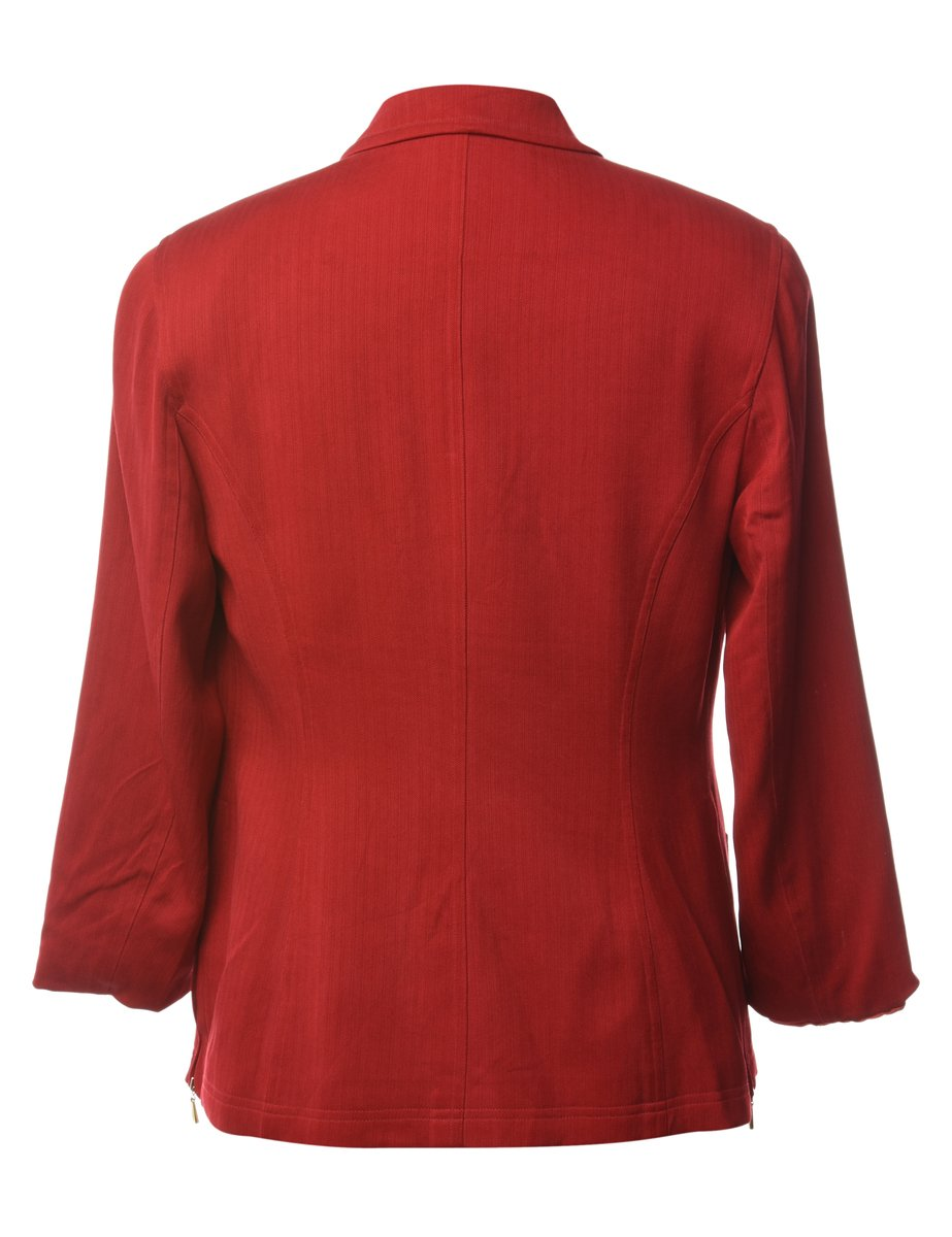 Beyond Retro 1990s Zip Front Silk Blend Jacket - M