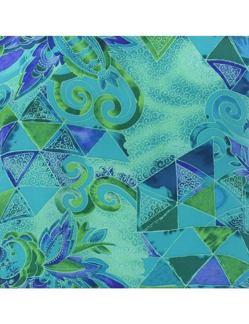 1990s Geometric Printed Top - L
