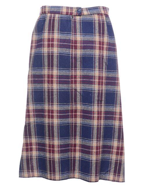 Beyond Retro 1990s Checked A-line Skirt - L
