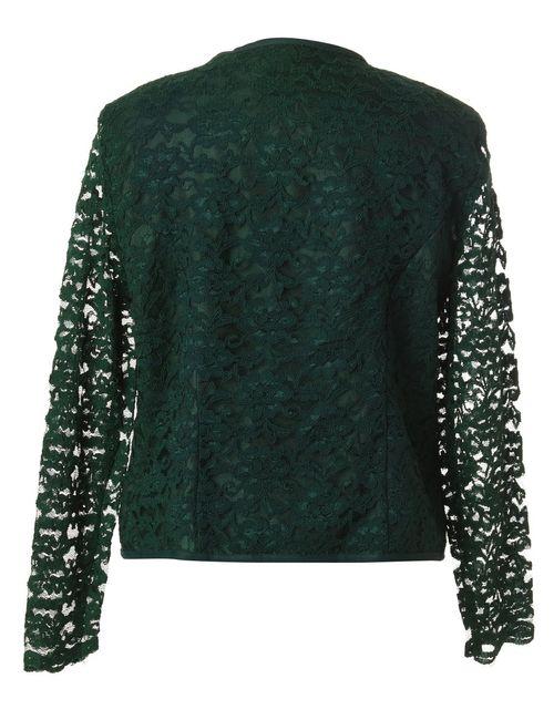 Beyond Retro 1980s Floral Lace Evening Jacket - L