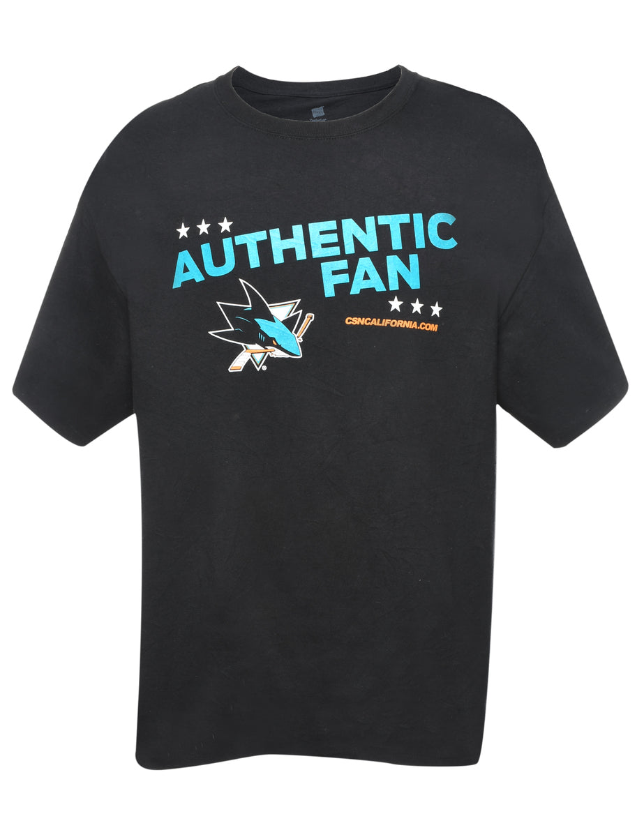 2000s Authentic Fan Printed T-shirt - XL