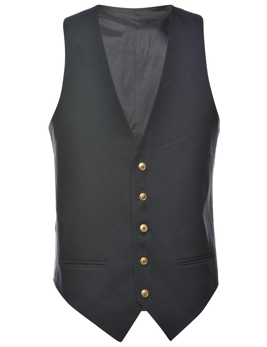1990s Navy Waistcoat - L