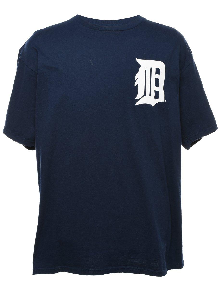 2000s Navy Printed T-shirt - XL