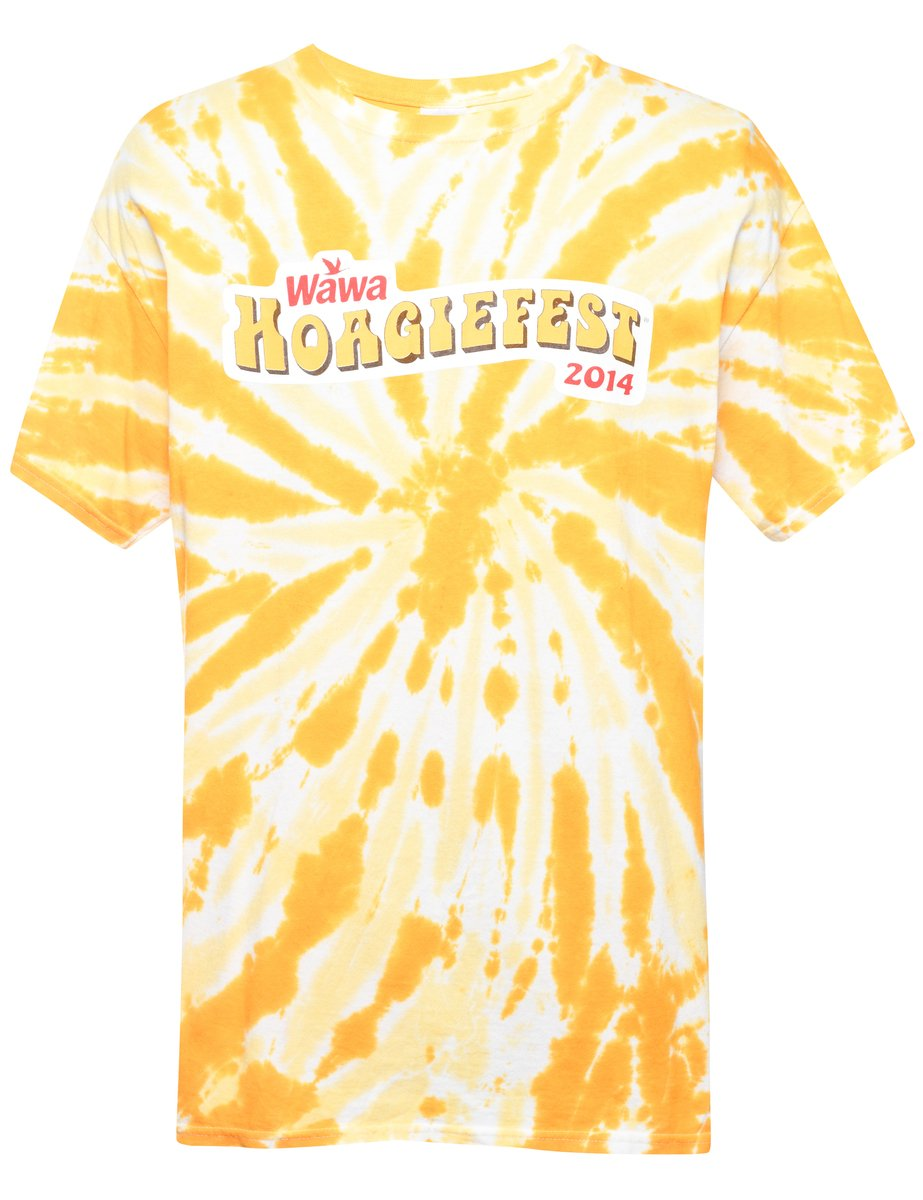2000s Tie Dyed T-shirt - L