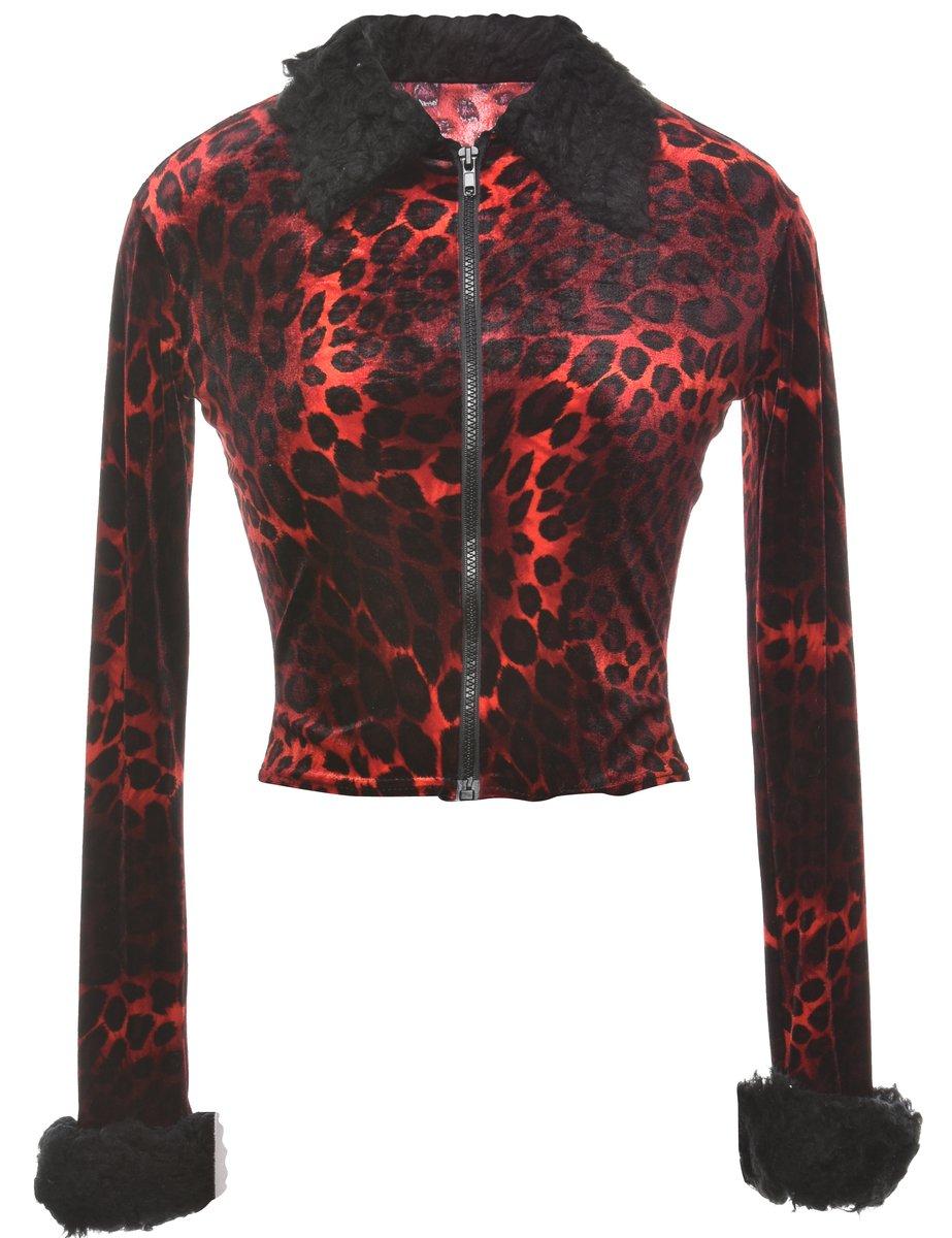 2000s Leopard Pattern Evening Jacket - XS