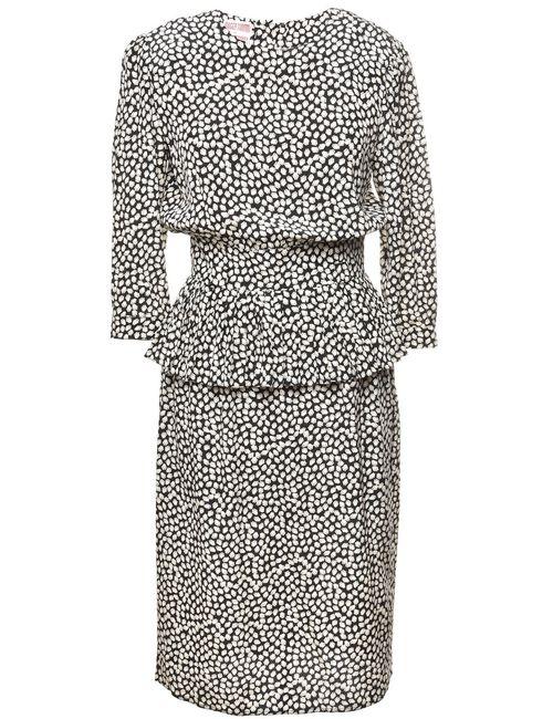 100% Silk Vintage Day Dress - M