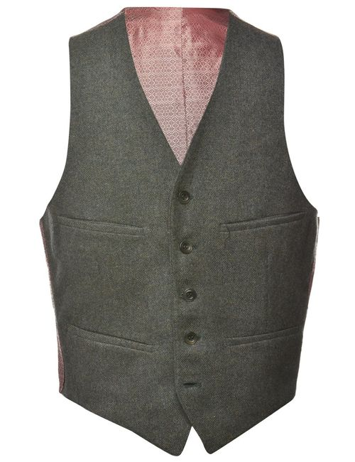 1980s Button Front Waistcoat - M