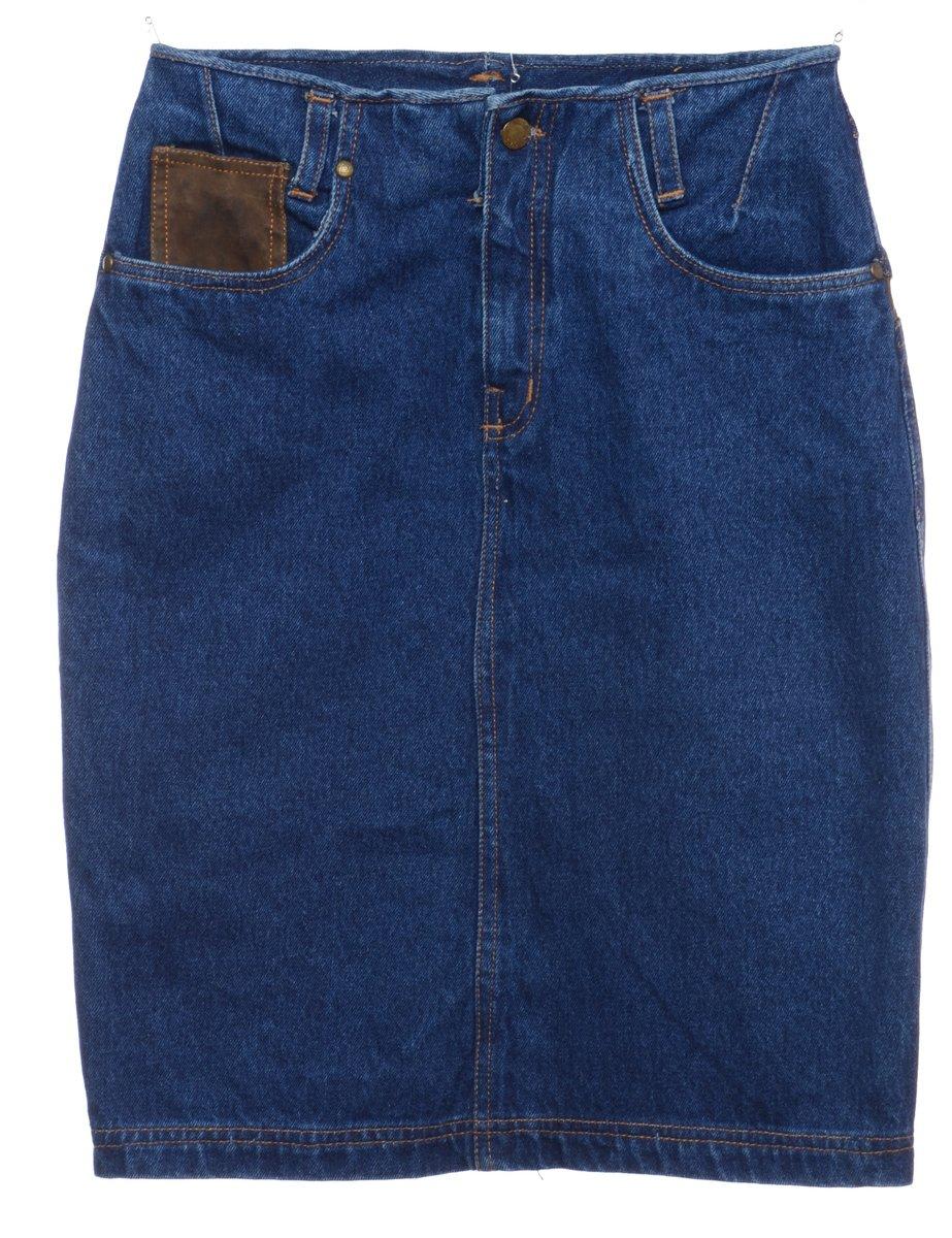 1990s Indigo Denim Skirt - M