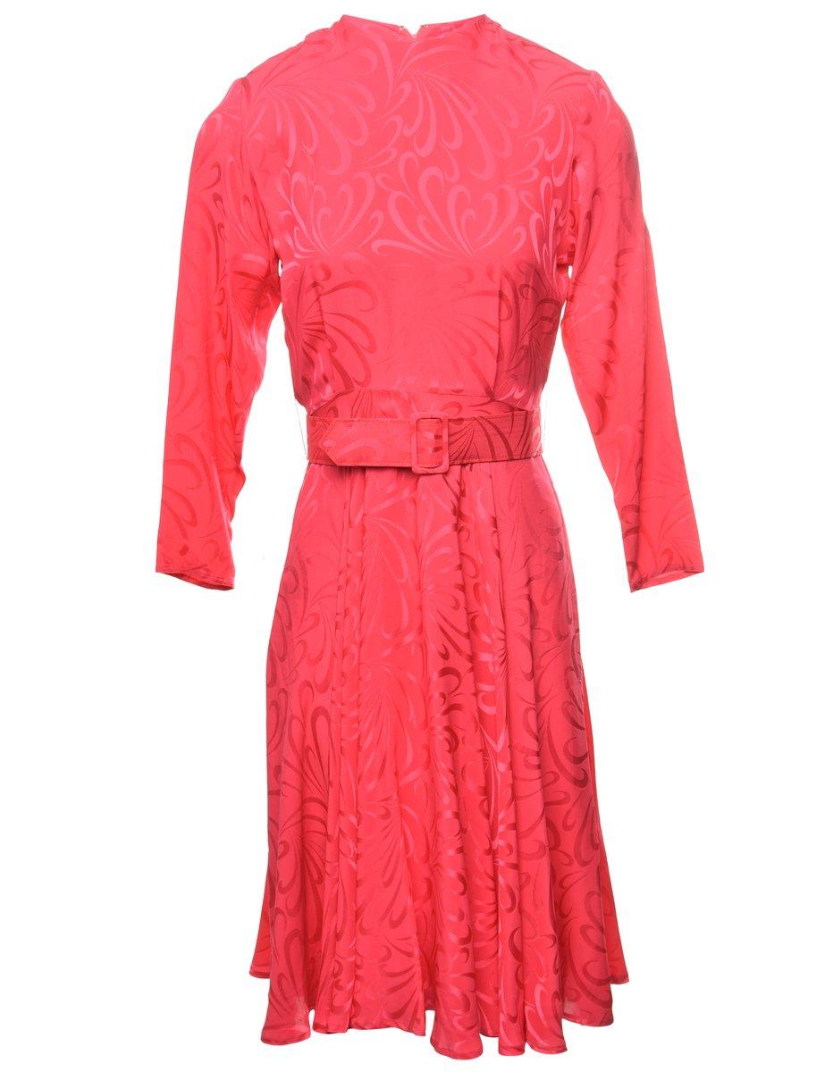 100% Silk Jacquard Dress - M