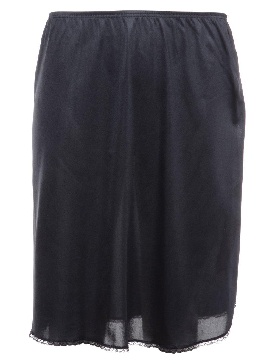 1990s Black Underskirt - L