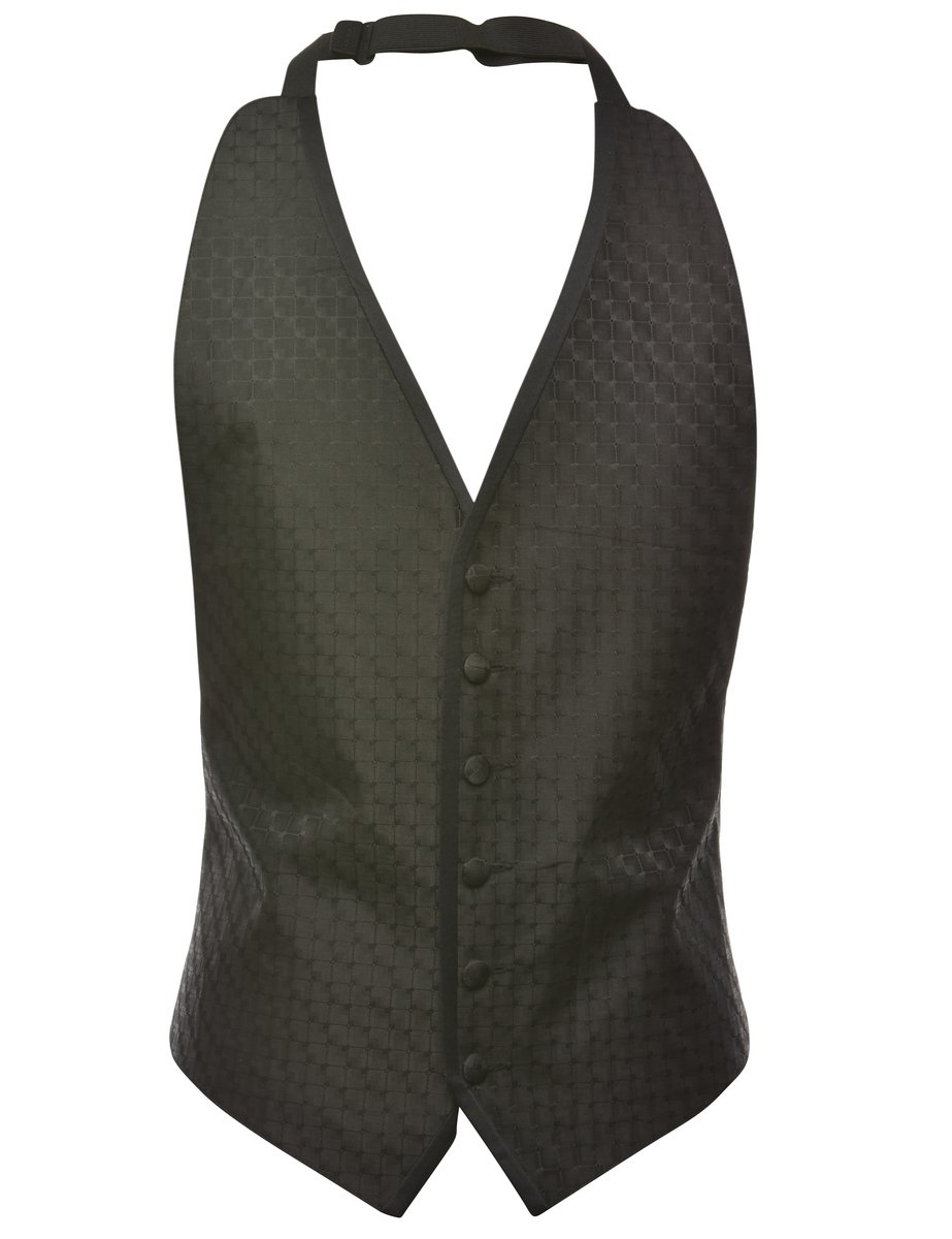 1990s Button Front Waistcoat - S