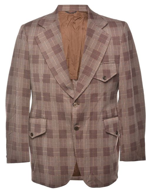 1990s Checked Blazer - M