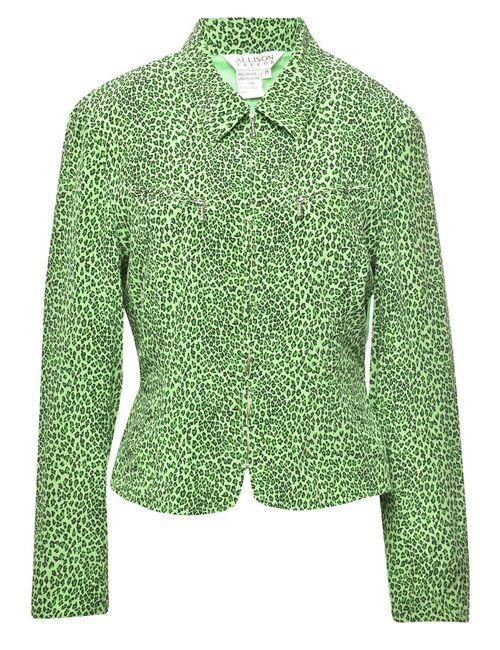100% Silk Leopard Jacket - M