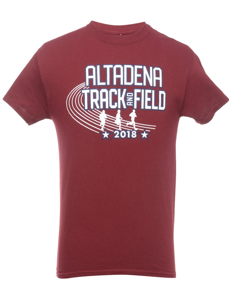 Beyond Retro 2000s Altadena Track And Field Printed T-shirt - S
