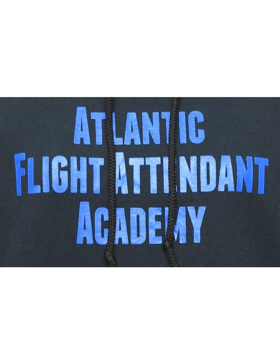Beyond Retro 2000s Atlantic Flight Attendant Academy Hoodie - L