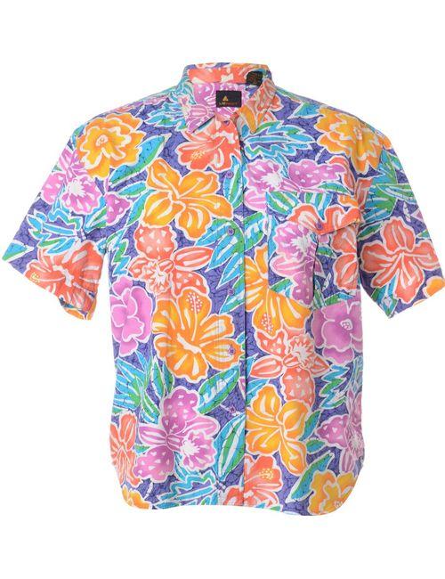 1990s Floral Shirt - M