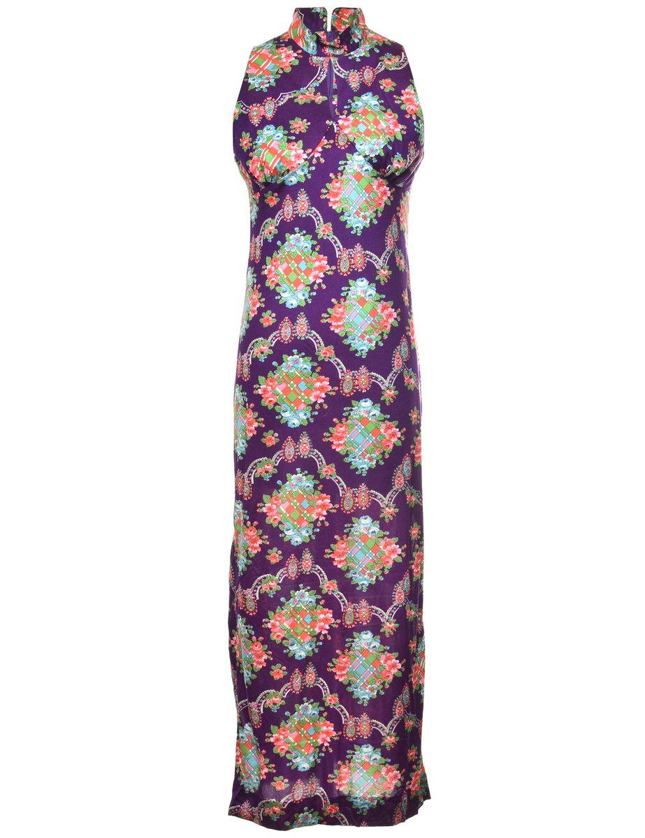 Beyond Retro 1970s Floral Pattern Dress - M