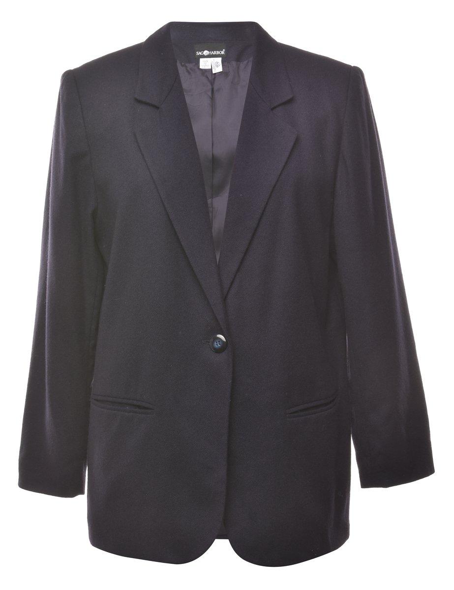 100% Wool Blazer - L