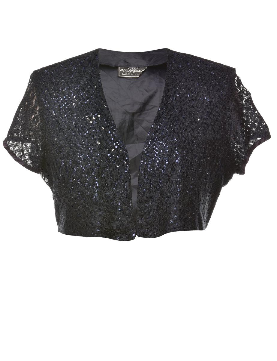 2000s Lace Cropped Jacket - M