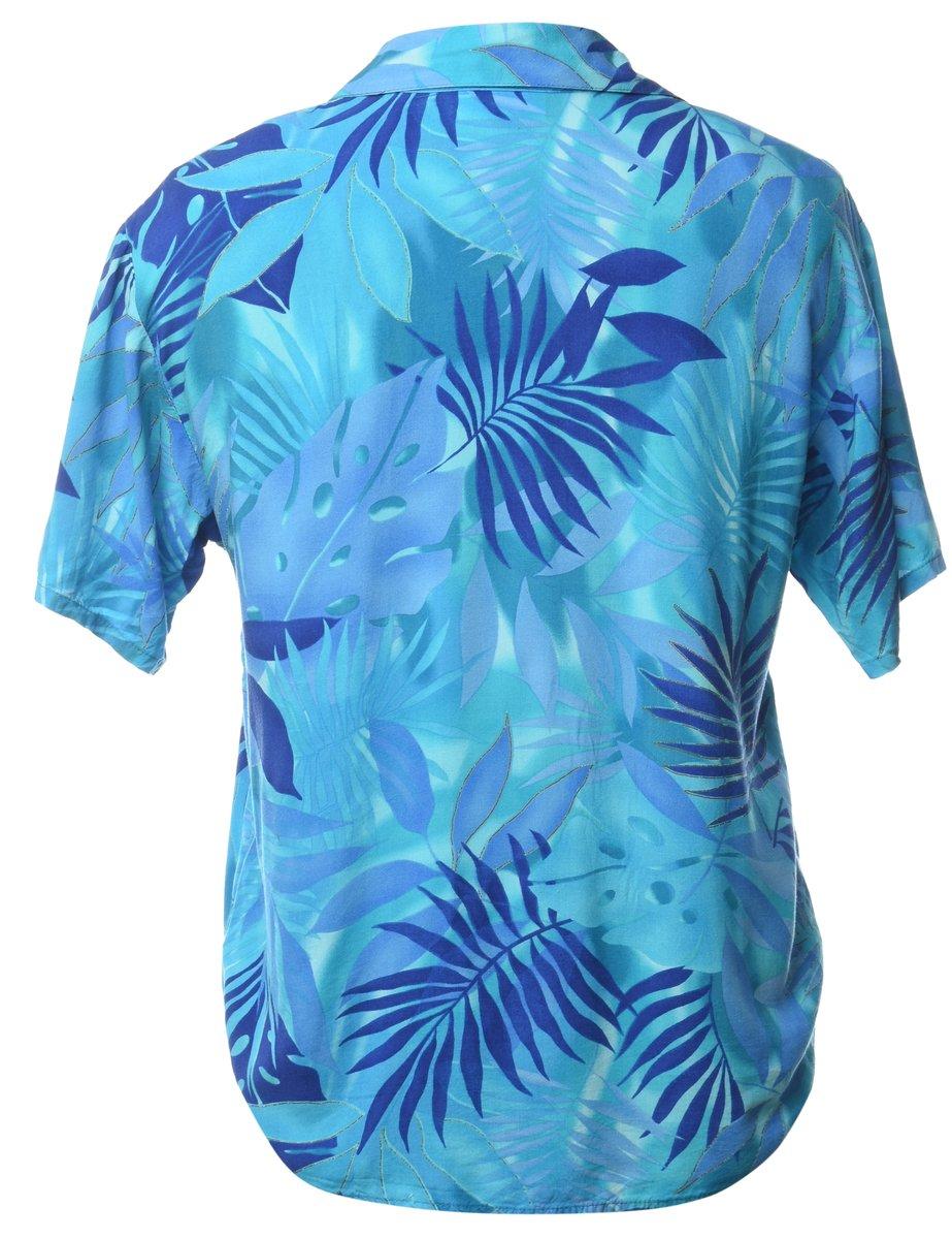 Beyond Retro 1990s Foliage Hawaiian Shirt - S
