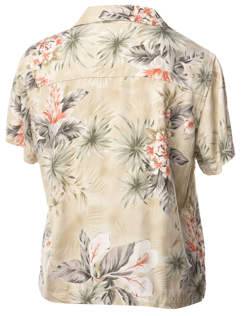 1990s Floral Hawaiian Shirt - L