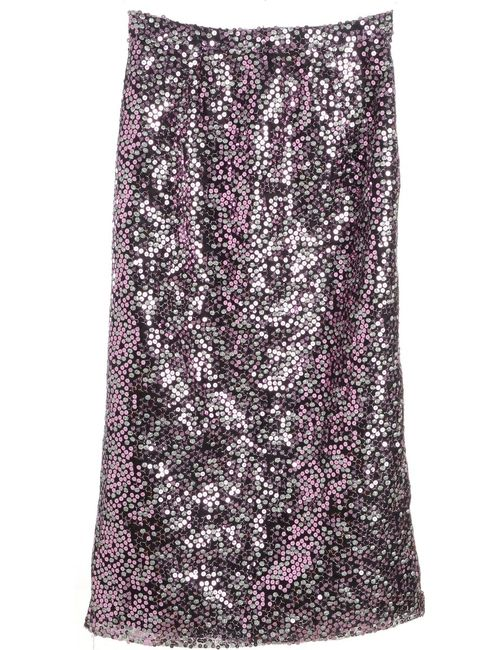 1990s Sequined Skirt - M