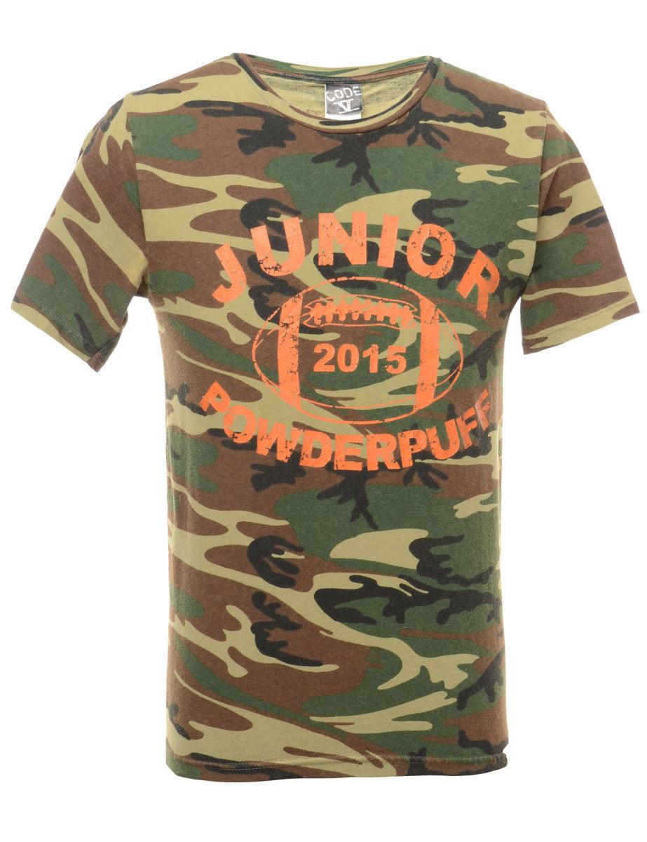 2000s Junior Powderpuff Printed T-shirt - S